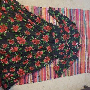Vintage inspired rose dress